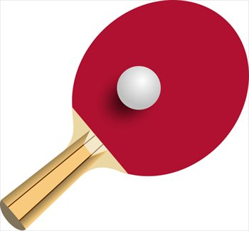 table tennis bat clipart